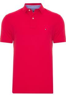Polo Masculina Tommy Knit - Vermelho