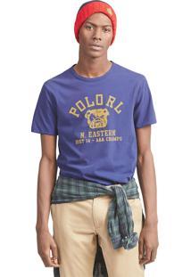 Camiseta Polo Ralph Lauren Double Face Reta Azul/Amarela