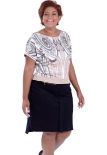 Vestido Gleen Lurex Plus Size Vickttoria Vick Plus Size Preto