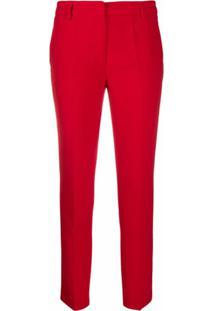 Blanca Vita Calça Cropped Com Stretch - Vermelho