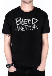 Camiseta Bleed American Logo Preta