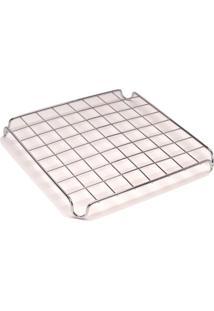 Descanso De Panela 9X9Cm Metal Cromado - Fackelmann