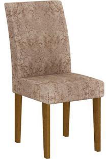 Cadeira Grécia 2 Peças - Imbuia - Suedi Amassado Chocolate