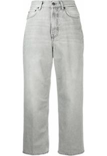 Acne Studios 1993 Cropped Straight-Leg Jeans - Cinza