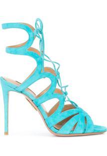 Aquazzura Sandália Com Tiras - Azul