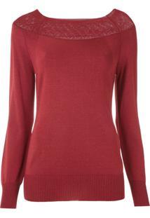 Alcaçuz Blusa Jandira De Tricô - Vermelho