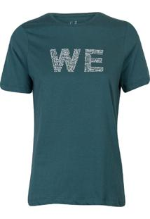 Camiseta Feminina We Verde