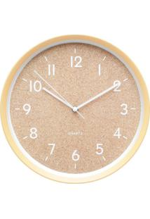 Relógio Cork Bege 30X30X5 Cm