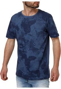 Camiseta Manga Curta Masculina Local Azul