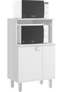 Armário Para Micro-Ondas Sloan 1 Pt Branco