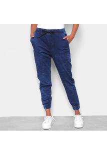 Calça Jogger Calvin Klein Jeans Indigo Feminina - Feminino-Marinho