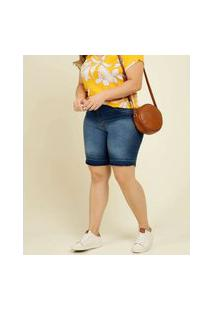 Bermuda Plus Size Feminina Jeans Biotipo