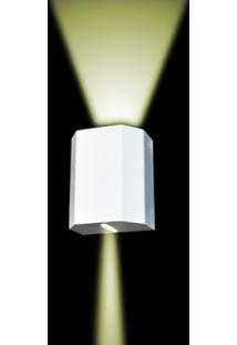 Arandela Kasse Sextavada Branco Fosco Mescla Alumínio Metal Domado