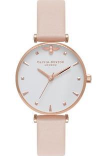 Relógio Olivia Burton Feminino Couro Nude - Ob16Am95