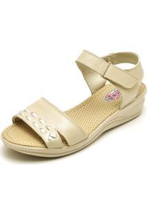 Sandalia Feminina Conforto Top Franca Shoes Bege
