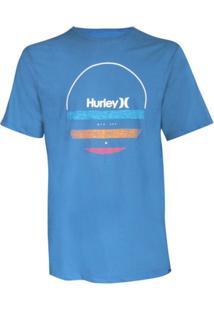 Camiseta Silk Banded Hurley - Masculino-Azul