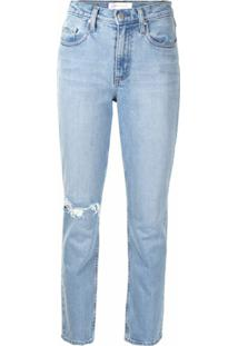 Nobody Denim Calça Jeans True Com Efeito Destroyed - Azul