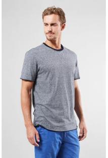 Camiseta Double Ft Reserva Masculina - Masculino-Preto+Cinza
