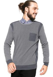 Suéter Handbook Tricot Recorte Cinza