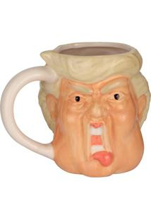 Caneca Mr.President- Branca & Bege- 500Ml- Full Full Fit