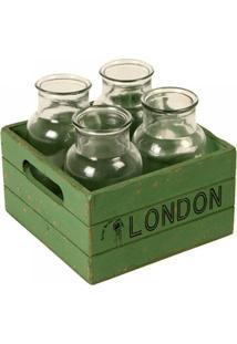 Conjunto De Garrafas De Vidro Decorativas London - Unissex