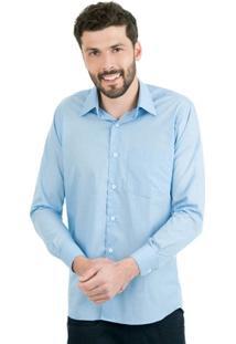 Camisa Di Sotti Detalhe Azul Claro - Masculino