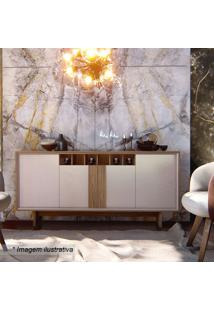 Buffet Barcelona- Off White & Noce- 78X173,7X46Cm