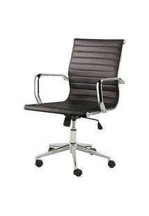 Cadeira Sevilha Eames Baixa Cromada Pu Preta - 4950 Preto