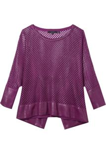 Blusa Rosa Chá Kelly I Tricot Roxo Feminina (Grape Juice, Gg)