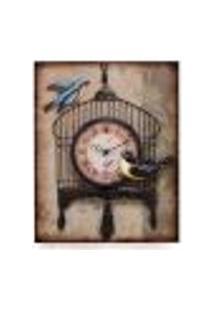 Relógio De Parede Gaiola