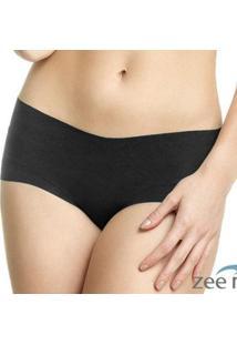 Calcinha Boxer Cotton Preta Ca103 - Feminino