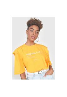Camiseta Colcci Muscle Amarela