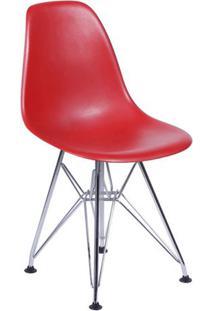 Cadeira Eames Dkr- Vermelha & Prateada- 80,5X46,5X42Or Design