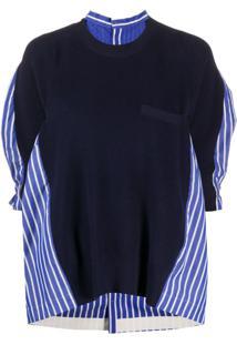 Sacai Blusa De Tricô Azul