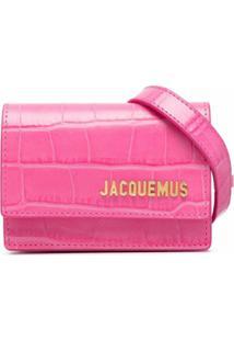 Jacquemus Pochete Riviera Com Gravação - Rosa