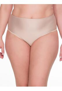 Calcinha Hot Pant Microfibra Plus Size - Skin - 1Xl