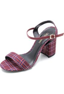 Sandália Dafiti Shoes Xadrez Rosa