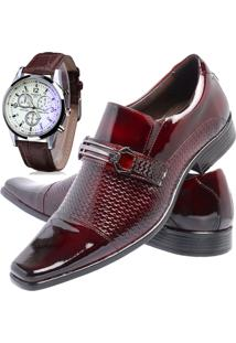 Sapato Social Relógio Gofer 651 Vinho
