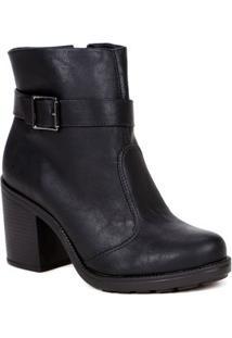 Bota Ankle Boot Feminina Preto