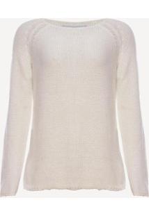 Suéter Aleatory Sway Feminino - Feminino-Branco