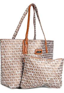 Bolsa Fellipe Krein Shopper Com Clutch - Feminino