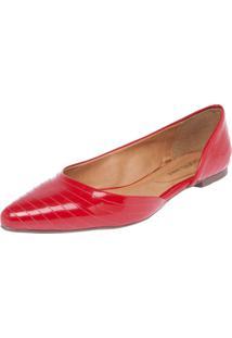 Sapatilha Dafiti Shoes Pespontos Vermelha