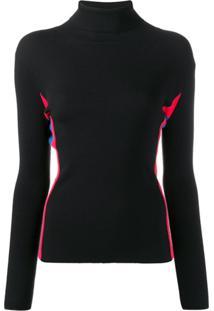 Twin-Set Camisa Polo Com Detalhe De Listras - Preto