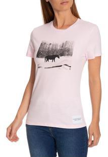 Blusa Ckj Fem Mc Andy Warhol Landscape - Rosa Claro - Pp