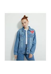 Jaqueta Jeans Com Estampa Ursinhos Carinhosos Frente E Costas   Care Bears   Azul   M