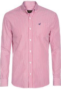 Camisa Masculina Luiz Listrada - Vermelho