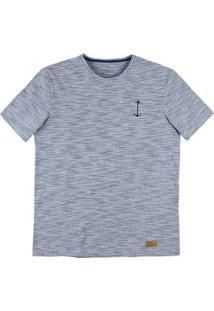 Camiseta Masculina Em Malha De Algodão E Modelagem Regular