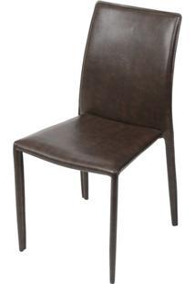 Cadeira Bali Estofada Couro Ecologico Retro - 51308 Sun House
