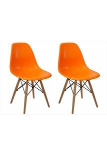 Kit Mpdecor 02 Cadeiras Eiffel Charles Eames Laranja