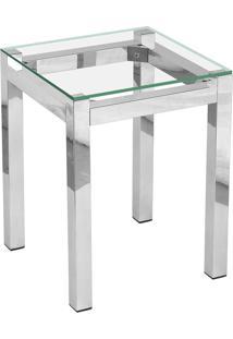 Mesa De Apoio Quadrada Em Alumínio Map002 – Alegro. - Alumínio